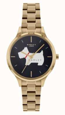 Radley 子午线广场|金色钢手链|蓝色表盘 RY4520