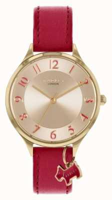 Radley 撒克逊路 红色皮革表带 银色表盘 RY2968