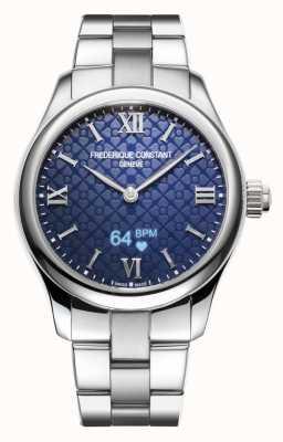 Frederique Constant 女装 |活力 |智能手表 |蓝色表盘|不锈钢 FC-286N3B6B