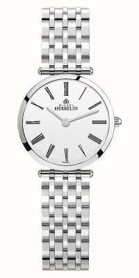 Michel Herbelin |女装| epsilon |不锈钢手链|白色表盘| 17116/B01N