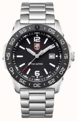 Luminox 男士潜水员 黑色表盘 不锈钢手链 XS.3122