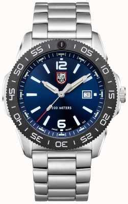 Luminox 男士潜水员 蓝色表盘 不锈钢手链 XS.3123