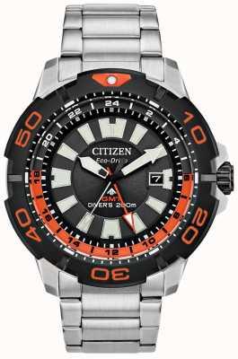 Citizen 男士Promaster潜水员gmt |不锈钢|黑色表盘|橙色口音 BJ7129-56E
