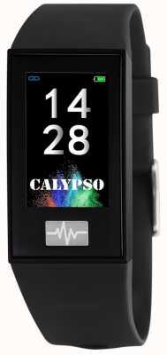 Calypso 男女皆宜| smartime |黑色硅胶表带+免费表带 K8500/6