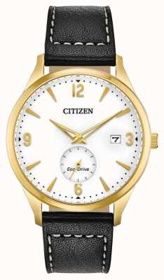 Citizen 生态驱动黄金PVD外壳|黑色皮革表带 BV1112-05A