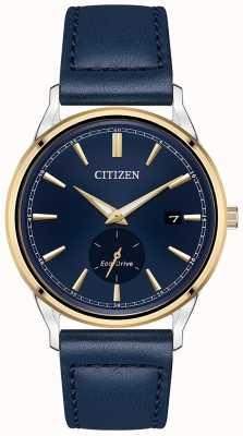 Citizen 生态驱动蓝色皮革蓝色表盘手表 BV1114-18L