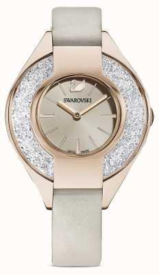 Swarovski 水晶般动感|灰色皮革表带|香槟色表盘 5547976
