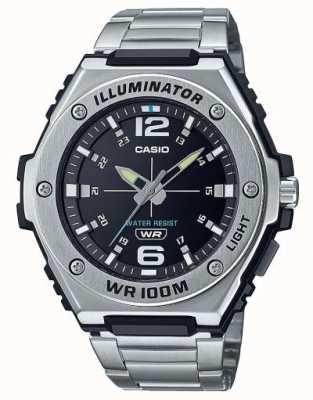 Casio 照明器|黑色表盘|不锈钢| MWA-100HD-1AVEF