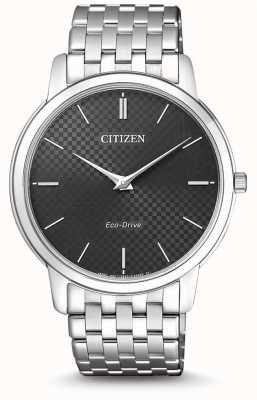 Citizen 男士细高跟超薄黑色表盘手表 AR1130-81H