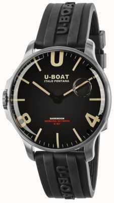 U-Boat Darkmoon 44毫米橡胶表带不锈钢 8463