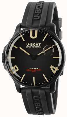 U-Boat Darkmoon 44mm黑色ipb |橡胶表带 8464-BLACK
