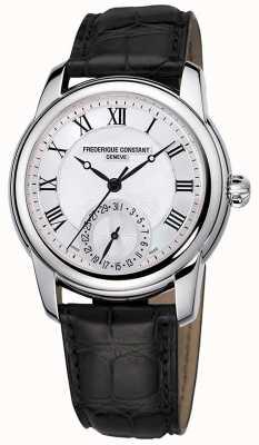 Frederique Constant 男士经典自动机黑色皮革表带|银色表盘 FC-710MC4H6