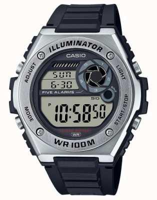 Casio 照明器|黑色硅胶表带 MWD-100H-1AVEF