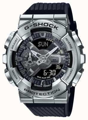 Casio G-shock |树脂质感表带|银表盘|世界时间 GM-110-1AER