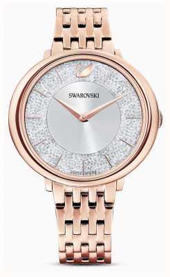Swarovski 结晶|镀玫瑰金钢手链|闪光表盘 5544590