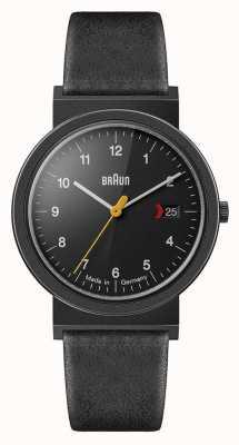 Braun 男士经典黑色皮表带黑色表盘黑色细节 AW10EVOB