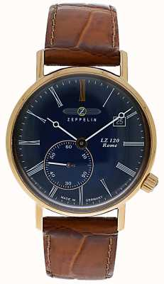 Zeppelin | lz120罗马女士|棕色皮表带|蓝色表盘| 7137-3