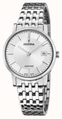 Festina 女士瑞士制造|不锈钢手链|银色表盘 F20019/1