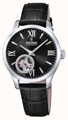 Festina 女装自动|黑色皮革表带|黑色表盘 F20490/3