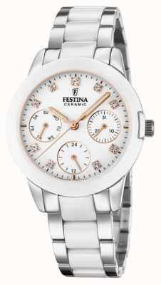 Festina 女士陶瓷|两音钢/陶瓷手链|白色表盘 F20497/1
