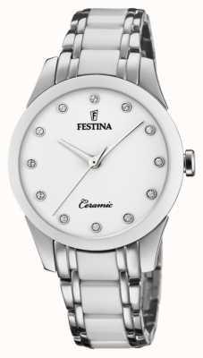 Festina 女士陶瓷|两音钢/陶瓷手链|白色表盘 F20499/1