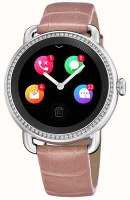 Festina Smartime |粉色皮革表带|彩色屏幕|额外的蛇纹表带 F50000/2