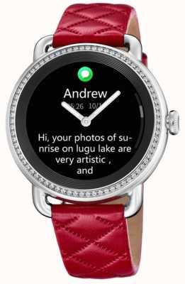 Festina Smartime |红色皮革表带|彩色屏幕|额外的黑色皮革表带 F50000/3
