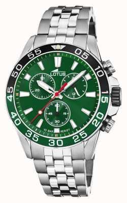 Lotus 男士不锈钢手链|绿色表盘|绿色/黑色边框 L18765/2