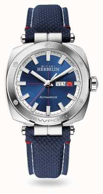 Michel Herbelin 纽波特Heritage自动|蓝色皮革表带|蓝色表盘 1764/42