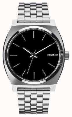 Nixon 时间出纳员|黑色|不锈钢手链|黑色表盘 A045-000-00