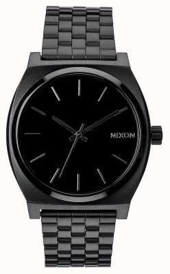 Nixon 时间出纳员|全黑|黑色ip钢手链|黑色表盘 A045-001-00
