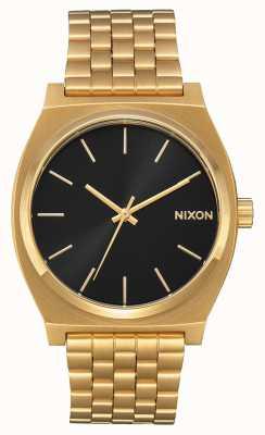 Nixon 时间出纳员|全金/黑色阳光|黄金ip手链|黑色表盘 A045-2042-00