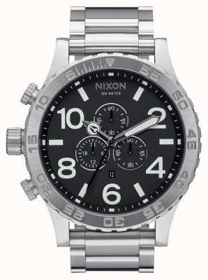 Nixon 51-30计时|黑色|不锈钢手链|黑色表盘 A083-000-00