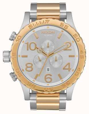 Nixon 51-30计时|银/金|两音手链|银色表盘 A083-1921-00