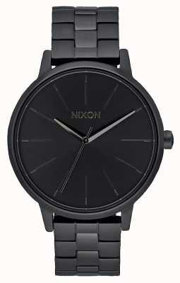 Nixon 肯辛顿 全黑 黑色ip手链 黑色表盘 A099-001-00