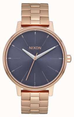 Nixon 肯辛顿 玫瑰金/风暴 玫瑰金ip手链 蓝色表盘 A099-3005-00