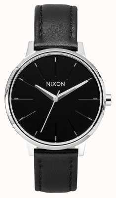 Nixon Kensington皮革 黑色 黑色皮革表带 黑色表盘 A108-000-00