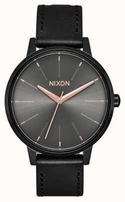 Nixon Kensington皮革 黑色/炮铜色 黑色皮革表带 A108-1420-00