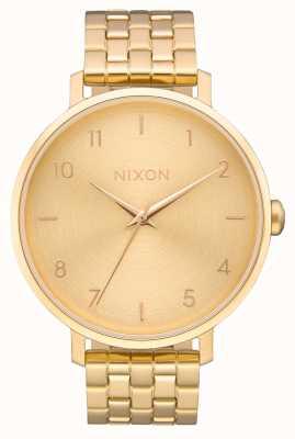 Nixon 箭 全金 黄金ip钢手链 金表盘 A1090-502-00