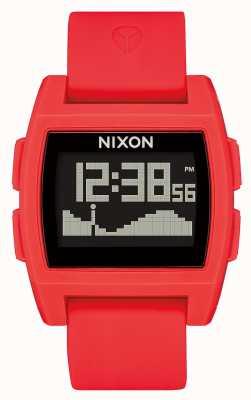 Nixon 基准潮 红色 数码 红色硅胶表带 A1104-200-00