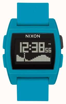 Nixon 基准潮 蓝色树脂 数码 蓝色硅胶表带 A1104-2556-00