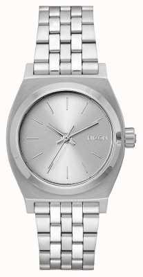 Nixon 中等时间出纳员 全银 不锈钢手链 银色表盘 A1130-1920-00