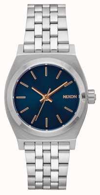 Nixon 中等时间出纳员 海军/玫瑰金 不锈钢手链 海军表盘 A1130-2195-00