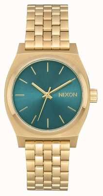 Nixon 中等时间出纳员|浅金/绿松石|黄金ip钢手链 A1130-2626-00