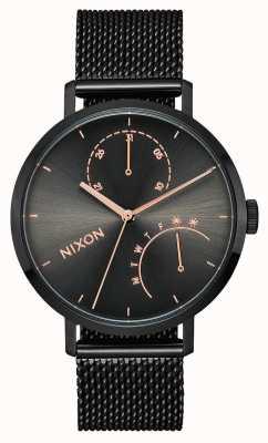 Nixon 离合器黑色/炮铜色 黑色ip钢网 黑色表盘 A1166-1420-00