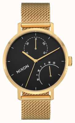Nixon 离合器金色/黑色 金色ip钢网 黑色表盘 A1166-513-00