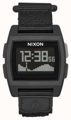 Nixon 基础潮尼龙 全黑 数码 黑色尼龙表带 A1169-001-00