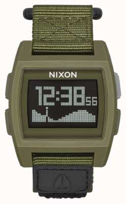 Nixon 基础潮尼龙 剩余 数码 绿色尼龙表带 A1169-1085-00