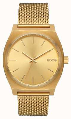 Nixon 西班牙语时间出纳员 全金 金色ip钢网 金表盘 A1187-502-00