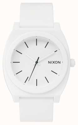 Nixon 时间出纳员p  磨砂白 白色硅胶表带 白色表盘 A119-1030-00
